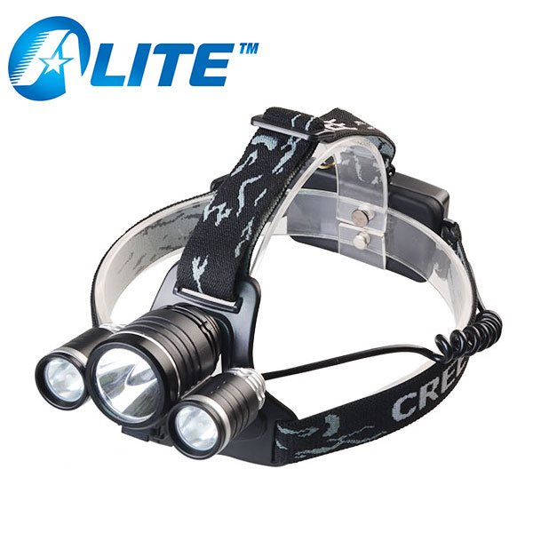 1000lm adjustable miner rechargeable headlamp most power for camping bike light