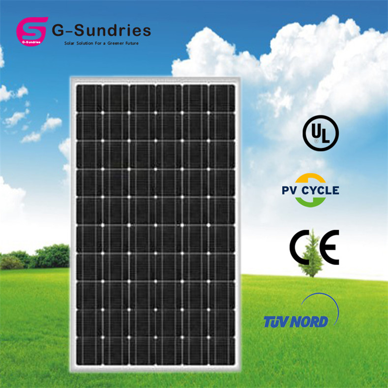 Dependable performance mono solar panel. 25% efficiency