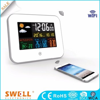 2017 WIFI snooze nice color weather station , digital alarm table clock