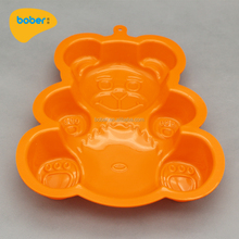 Professional Manufacturing Bear Shape Reusable Non-stick Silicone Bakin Cake Muffin Mold