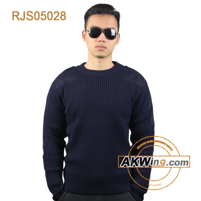 Navy Blue cheap Police plain Sweater jerseys mens Military jerseys wool jersey