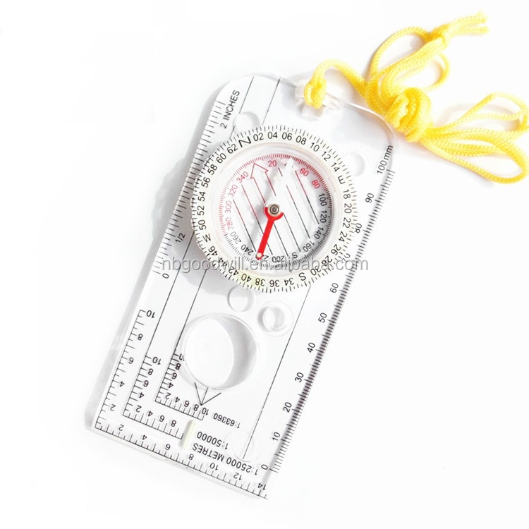 The scale of the compass, compass, compass and transparent, with luminous function