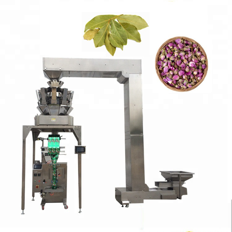 Z type elevator YB-<strong>Z10</strong> Automatic 10 head weigher brid food packing potato chips chocolate beans packaging machine