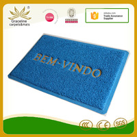 2017 high quality bemvindo welcome word pvc coil door mat