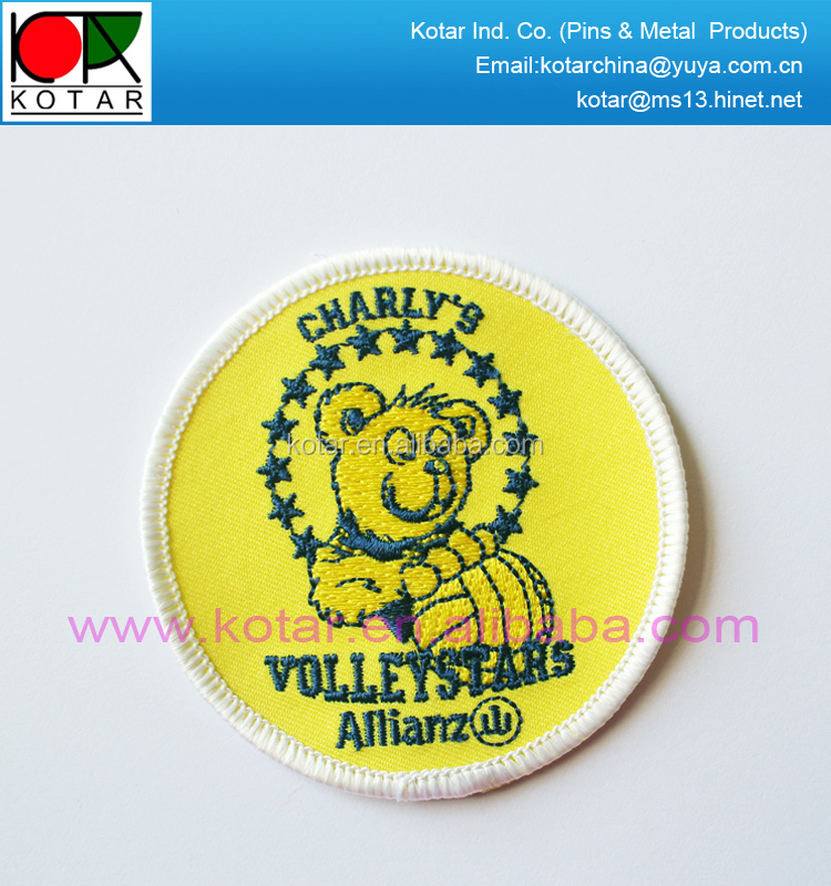 bespoke high quality bear logo embroidery patch