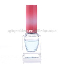 Custom made 10ml empty square french nail polish bottle with plastic cap