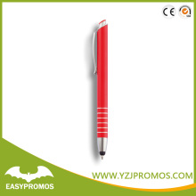 Promotional Red color Touch Stylus metal Pen for phone
