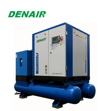 Integrated screw air compressor for machine laser
