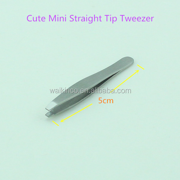 Cute Small Shape Straight Tip Stainless Steel Tweezers
