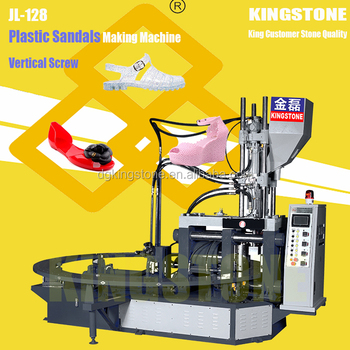 Rotary Jelly Shoes Plastic Injection Moulding Machine with Vertical Screw