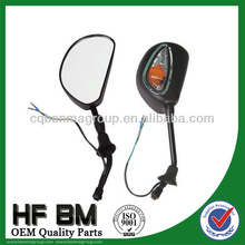long service life motorcycle rearview mirror with led,motorcycle side mirror and back mirror with high reputation in china