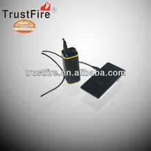 2013 TrustFire E01 4000mah 4800mah universal portable power pack black for mobile devices ,Micro, flashlight