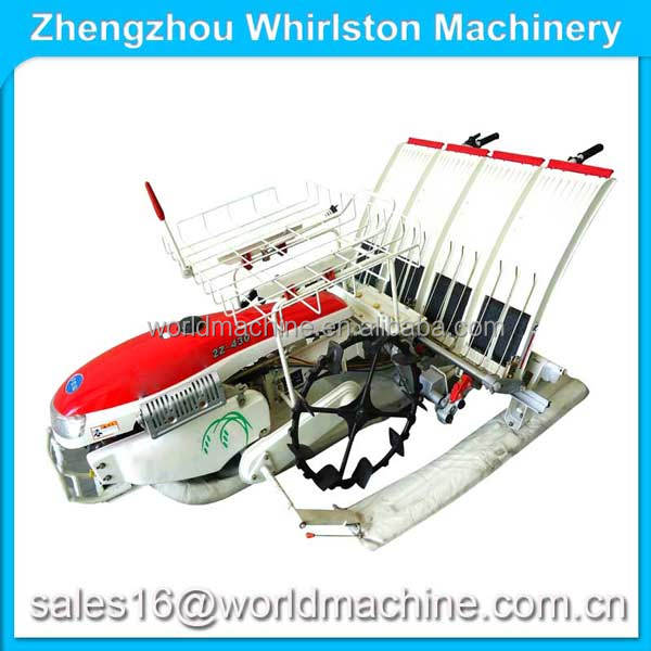 Walking behind type 4 rows rice paddy transplanter