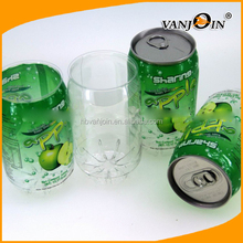 Factory Price 250ml Plastic Soda Can, Custom Printing Empty Plastic Coke Can for Sale