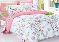 2016 Good quality nice design 300TC organic cotton printing 4pcs king size bed linen S-DDX-151300