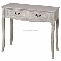 Whitewashed console tables 2 drawers vintage furniture shabby chic