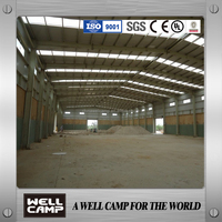 Chile project prefabricated workshop/steel structure worshop/steel building