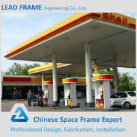 Light space truss structure gas station used canopy