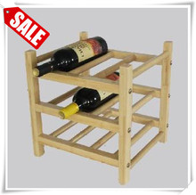 Custom teak wood wine rack fancy wooden display clothes hanger with non slip square wooden bar