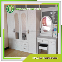 european style modern waterproof plywood wardrobe