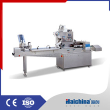 Food Plastic Flow Pack Machine High Speed / Pillow Packing Machine With Laminate Film