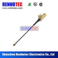 semi-rigid 90 degree female f connector to I-PEX rf cable