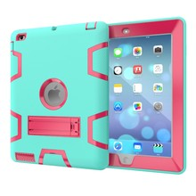 For iPad 234 Back Housing Cover With Stand For iPad 2/3/4 Tablet Case