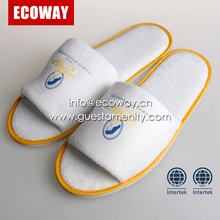 Hotel customized disposable terry slipper in orange