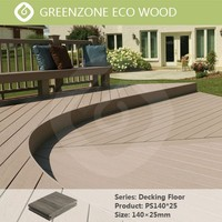 Natural style comfortable garden balcony flooring wpc merbau decking timber