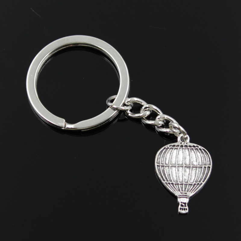 Newest air balloon zinc alloy keychain promotional iron keychain