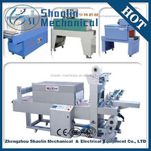 Low heat consumption automatic l type plastic bottle pe film shrink packaging machine with high speed