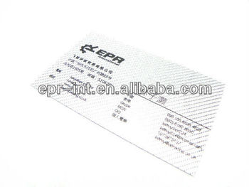 Carbon Fiber Veneers Business Name Card
