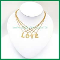 Initial Pendant Gold Chain Necklace
