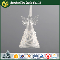 Hanging clear glass angel statue for home decoration