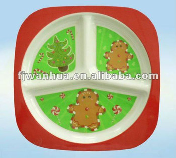 3 section plate baby products wholesale