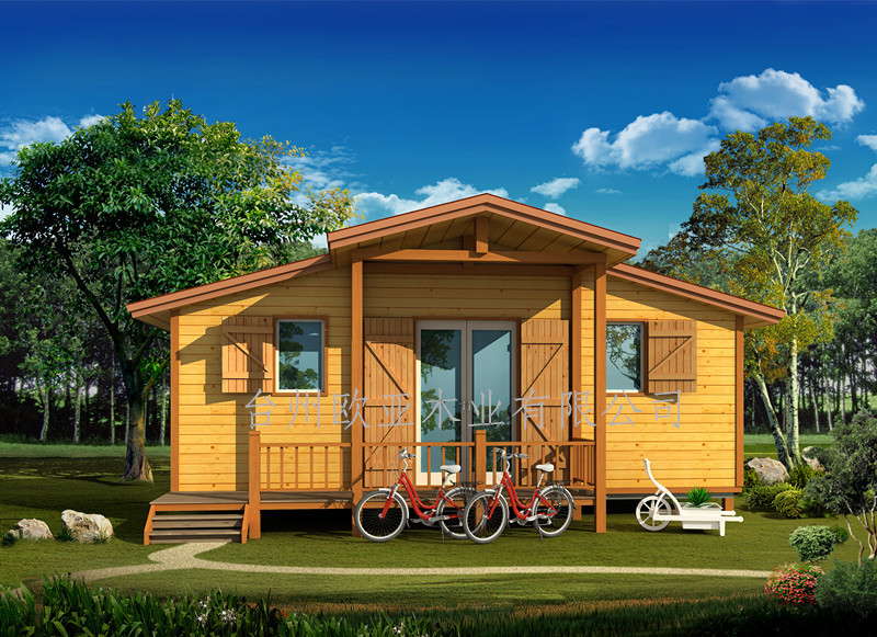 2017Simple New Design Prefabricated Wooden House Cheap Zhejiang Villa Office for live Pine wood