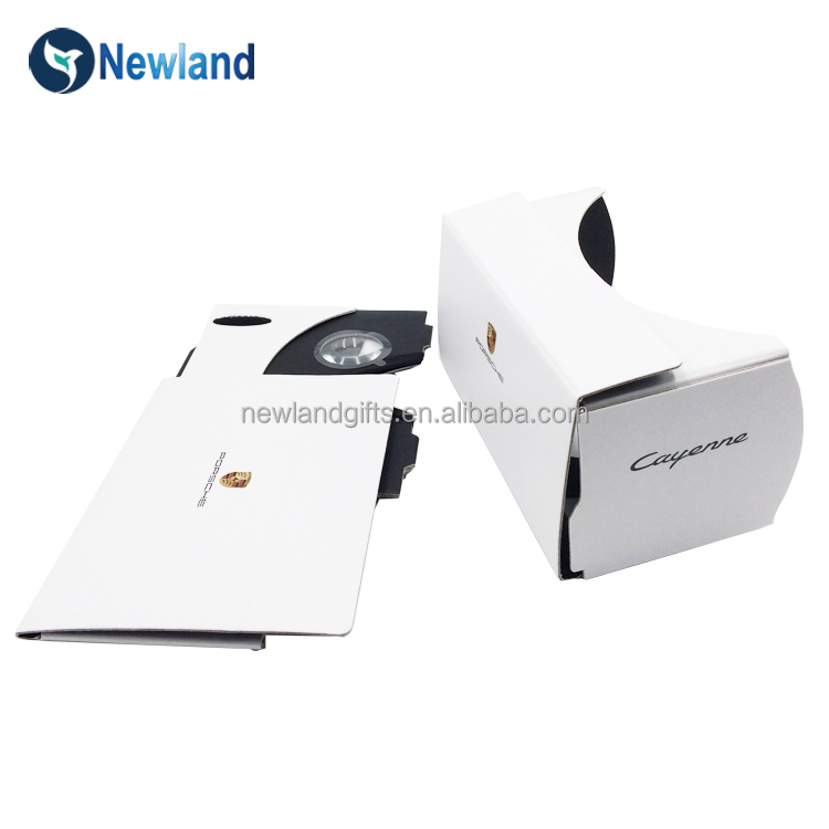 Brand folding vr headset , foldable google cardboard vr glasses