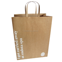 custom flat handle kraft paper bag