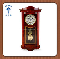 Classic design home decoration wood color wooden wall clock