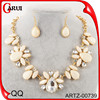 White flower acrylic set jewelry necklace wholesale indian jewelry