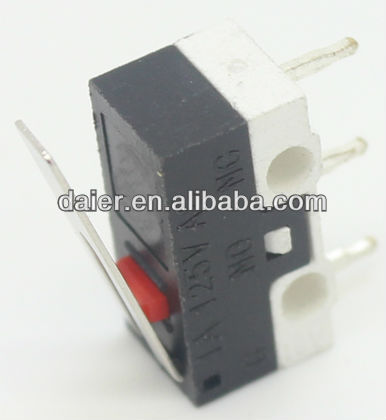 KW10 Short Lever Subminiature Micro Switch