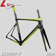 Racing Geometry Carbon Road Bicycle Frame Hot Sell Carbon Frame Road Racing LCR004-V