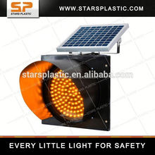 WL-A55 series 200mm solar amber flashing light for traffic