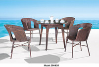 Garden treasures outdoor furniture rattan table and chair for sale
