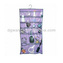 foldable crystal clear hanging jewelry organizer