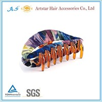 Buy vintage mini hair claw with colorful acrylic in China on ...