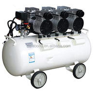 Quiet oil-free mute air compressor 70L dental air compressor