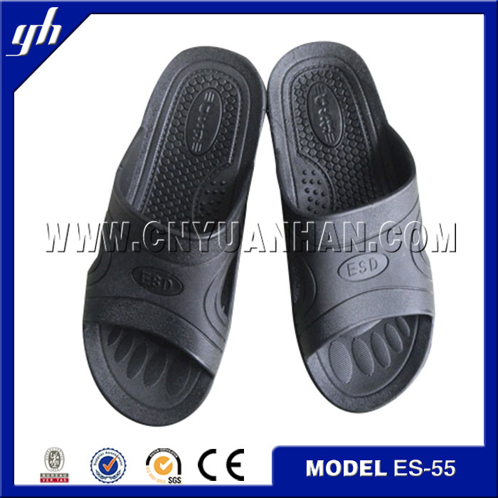 best price & !new style! 2014 man's black summer Esd slippers(ANTISTATIC)