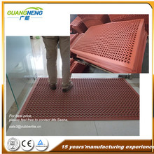 anti slip front door yellow rubber mats