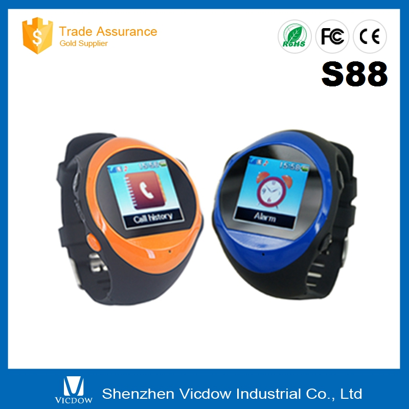 S88 New design Support heart rate monitor Local SMS Mobile watch Bluetooth Call SMS Phonebook Sync Pocket Smart WIFI Watch Phone